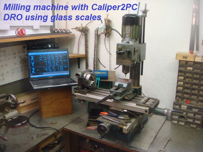 Digital Readout Milling Machine