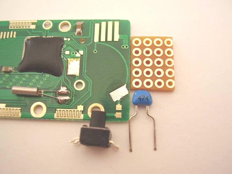 Encoder Speichertaste Kondensator Trägerplatine